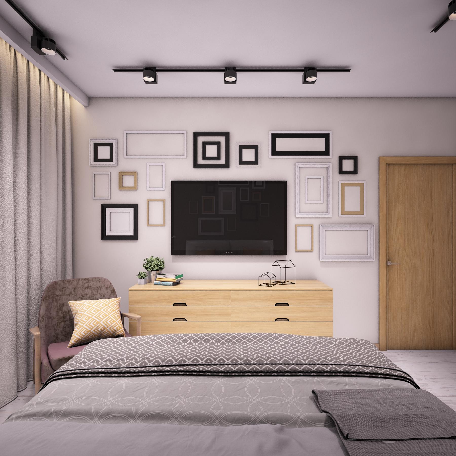 Спальня, вид на тв